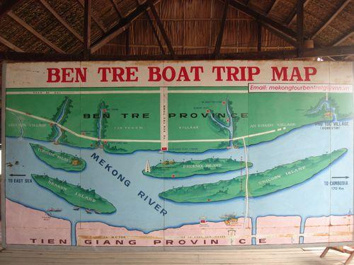 Ben Tre Boat Trip Map