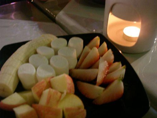 Complimentary choc fondue