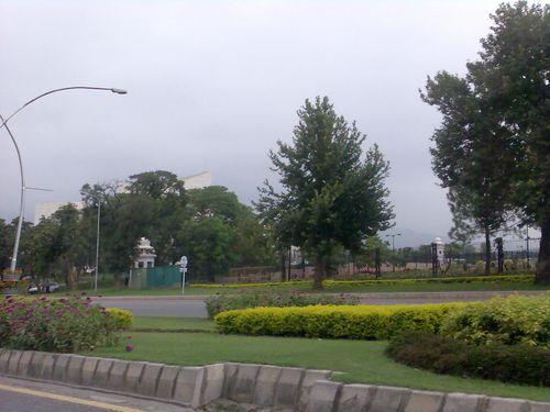 Seemingly peaceful street
