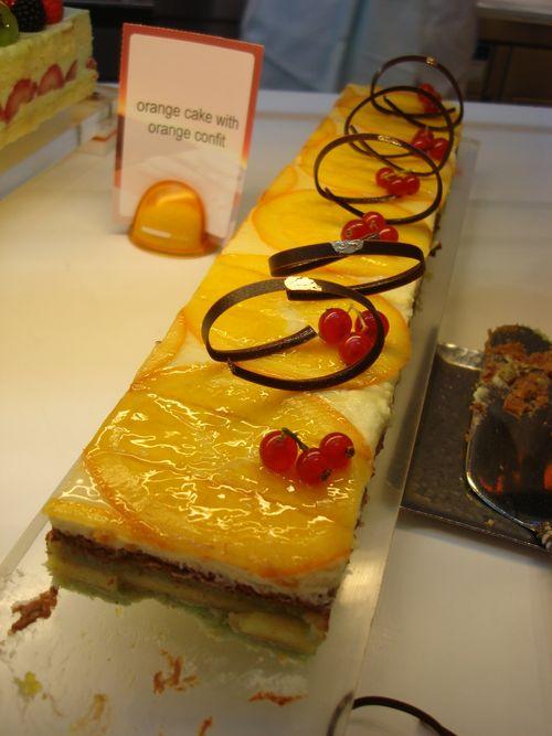 Orange cake with orange confit