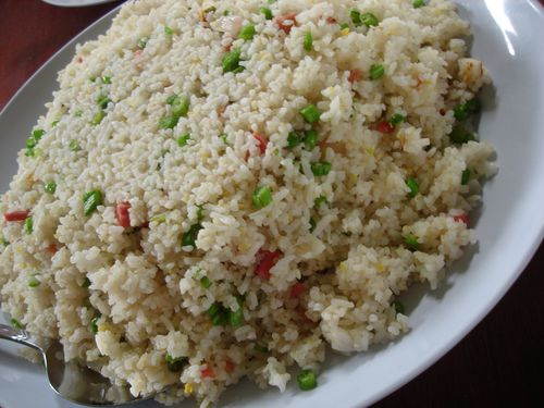 Giant plate of fried rice