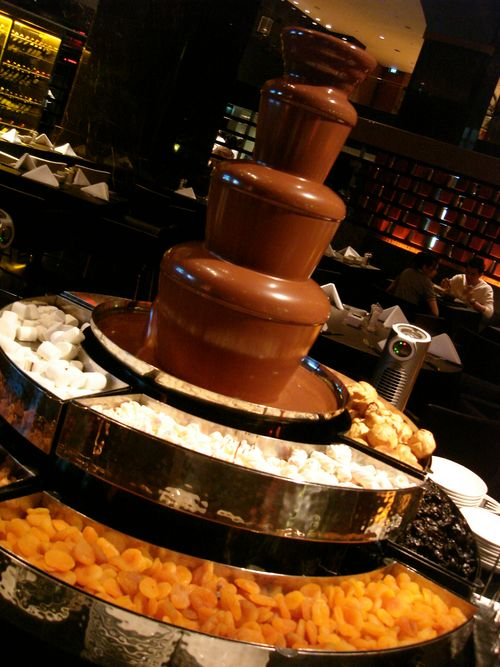 Giant fountain of chocolate