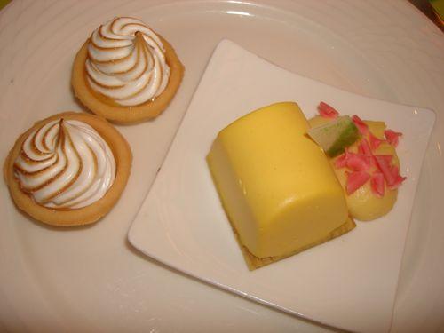 Lemon Tarts and Mango Dessert